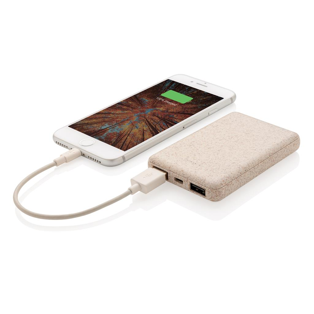 Power-bank ecologico con smartphone