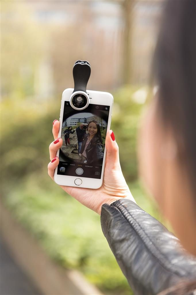 Lente fish-eye per smartphone