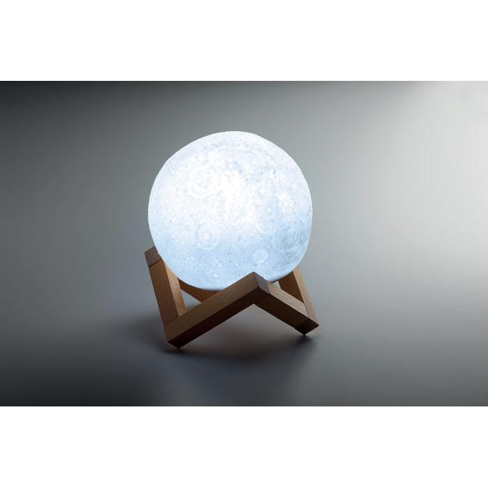 cassa bluetooth a forma di luna di colore blu