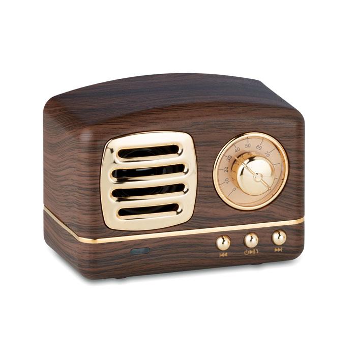 speaker bluetooth vintage a forma di radio