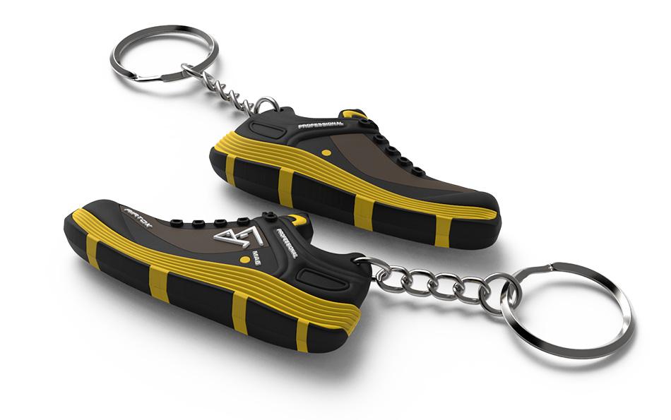 Portachiavi 3D a forma di scarpa