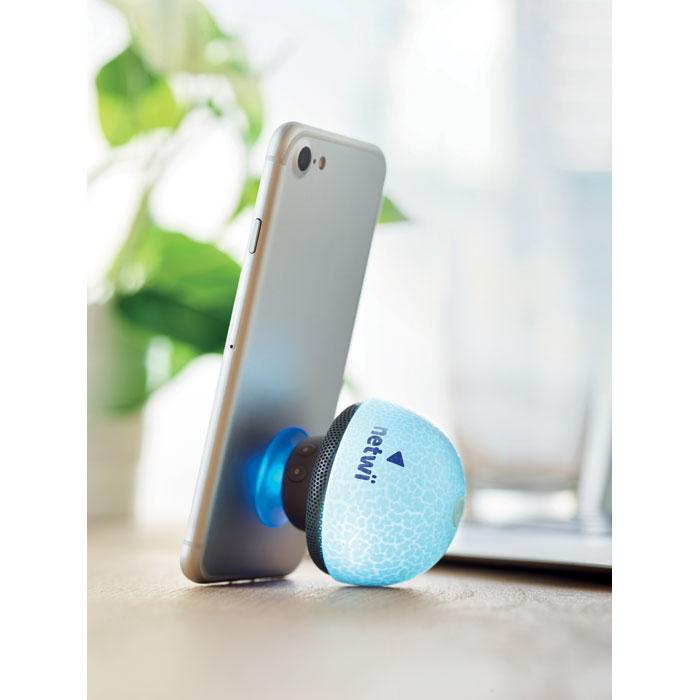 speaker a forma di fungo su smartphone
