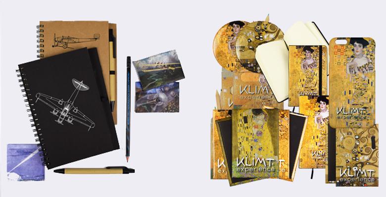 gadget pubblicitari realizzati per bookshop museo