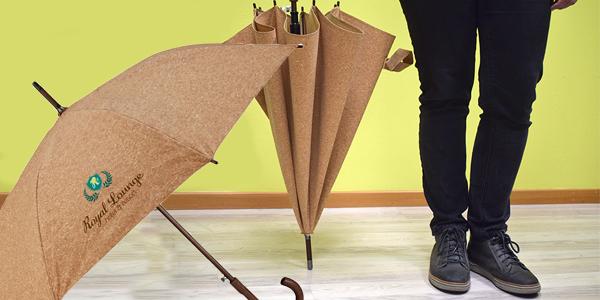 ombrello personalizzabile in sughero