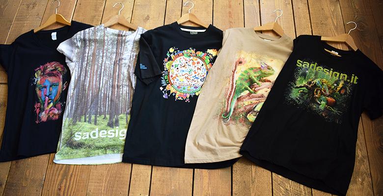 personalizzazione gadget con esempi magliette stampate