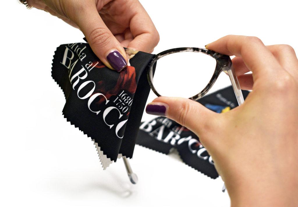 gadget pulisci occhiali Sfida al Barocco