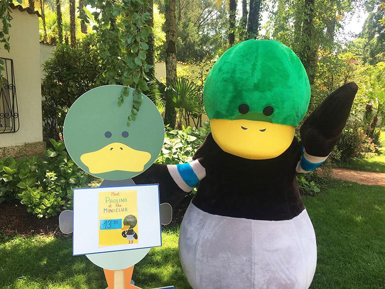 mascotte realizzata da Sadesign per hotel Du Lac et Du Parc
