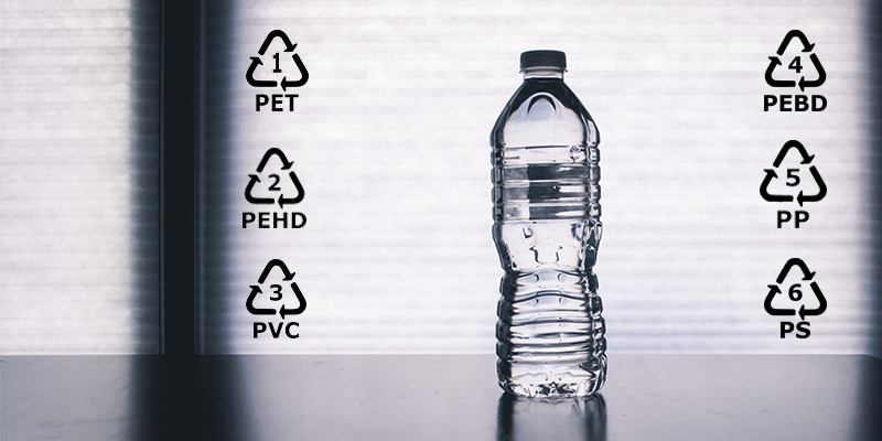 simboli della plastica riciclabile