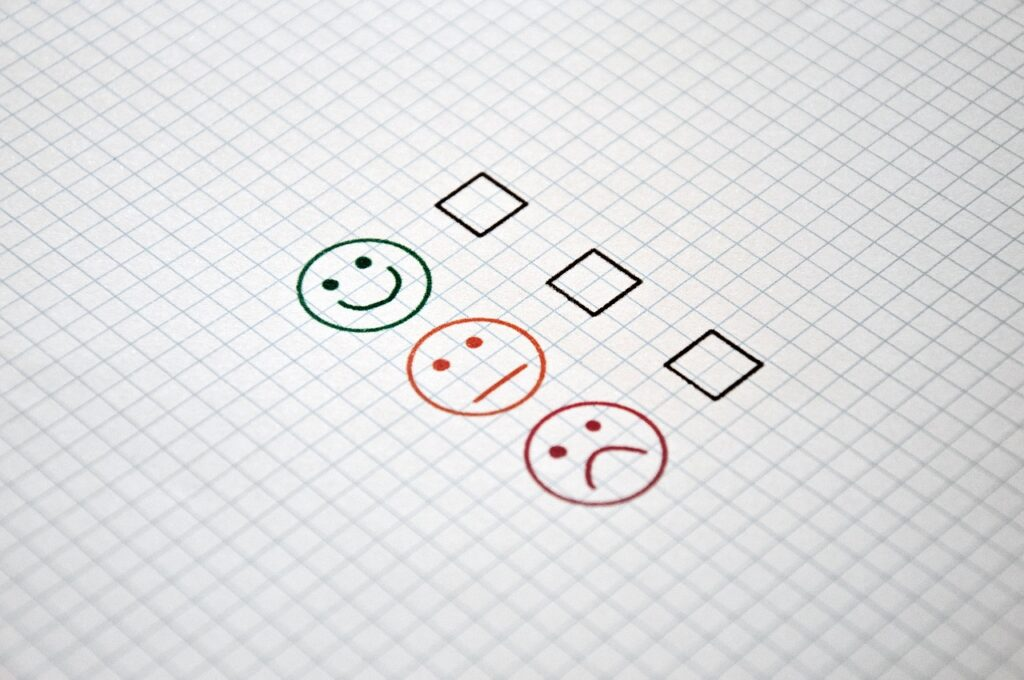 faccine da markare per misurare soddisfazione clienti, uno degli aspetti della fidelizzazione