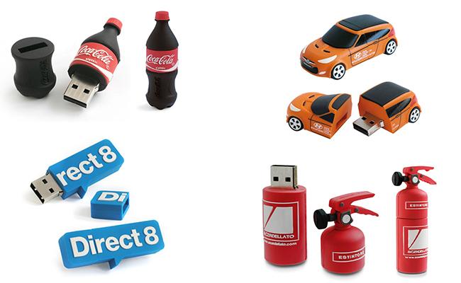 chiavette usb personalizzate a forma di coca-cola, macchina, estintore, logo direct8