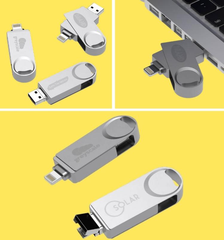 chiavette usb personalizzate con usb e micro lighting