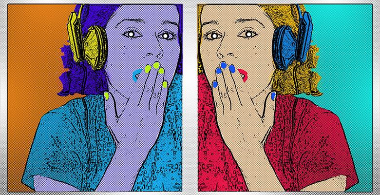 quadro con doppio volto di donna stile pop-art, uno degli stili dell'arte di oggi