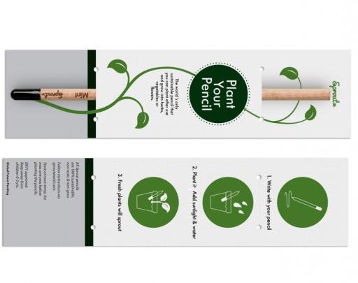 sprout, matita da usare e poi piantare per far crescere una pianta come esempio di regalo sostenibile